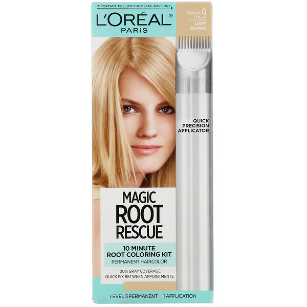 Magic Root Rescue, 10 Minute Root Coloring Kit, 9 Light Blonde , 1 Application