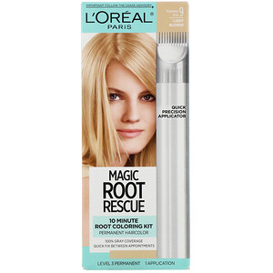 L'Oreal, Magic Root Rescue, 10 Minute Root Coloring Kit, 9 Light Blonde , 1 Application отзывы покупателей