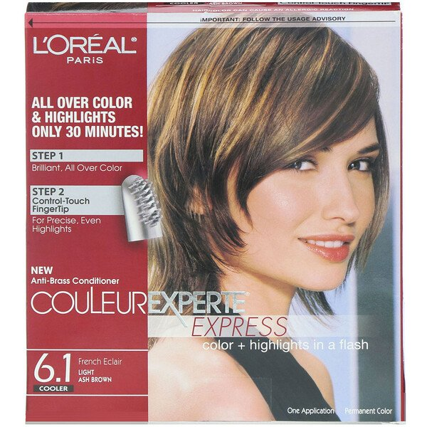 L'Oreal, Couleur Experte Express, Color + Highlights, 6.1 Light Ash Brown , 1 Application