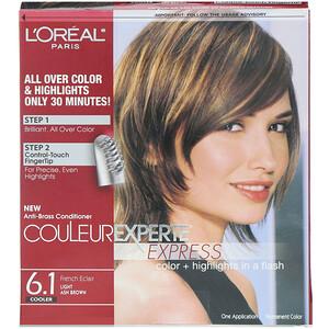 L'Oreal, Couleur Experte Express, Color + Highlights, 6.1 Light Ash Brown , 1 Application отзывы