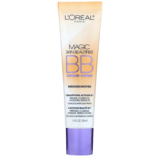 L'Oreal, Magic Skin Beautifier, BB Cream, 814 Medium, 1 fl oz (30 ml)