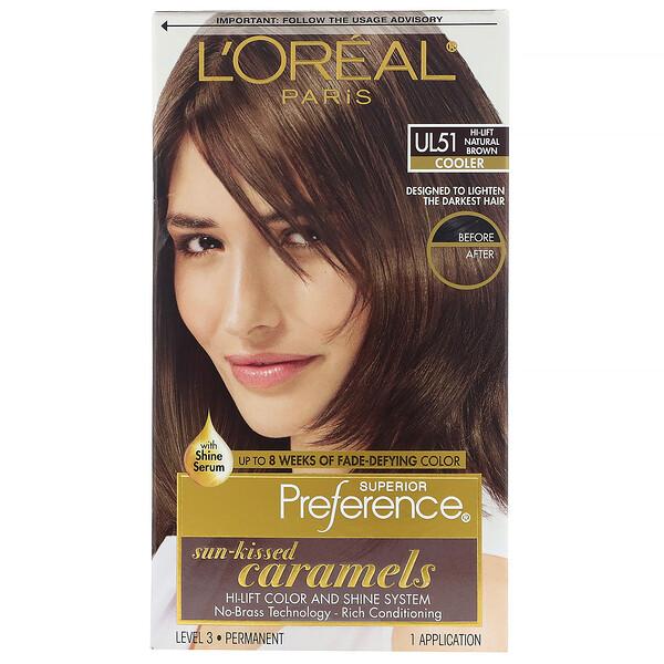 Superior Preference, צבע מבהיר לשיער עם תוספת ברק, Cooler. חום טבעי UL51, יחידה אחת