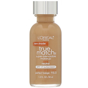 L'Oreal, True Match Super-Blendable Makeup, N5.5 Perfect Beige , 1 fl oz (30 ml) отзывы покупателей