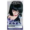 L'Oreal, Feria, Multi-Faceted Shimmering Color,  21 Bright Black, 1 Application