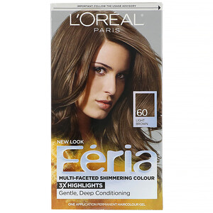 L'Oreal, Feria, Multi-Faceted Shimmering Color, 60 Light Brown , 1 Application отзывы