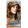 L'Oreal, Feria, Multi-Faceted Shimmering Color, 63 Light Golden Brown, 1 Application