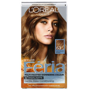 L'Oreal, Feria, Multi-Faceted Shimmering Color, 63 Light Golden Brown, 1 Application отзывы