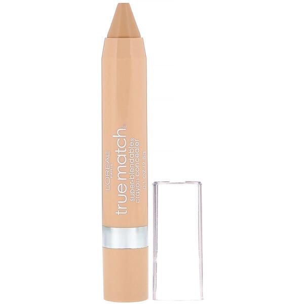 True Match Super-Blendable Crayon Concealer, W4-5 Warm Light/Medium , .1 oz (2.8 g)