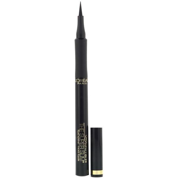 Infallible Super Slim Liquid Eyeliner, Black 400, 0.034 fl oz (1 ml)