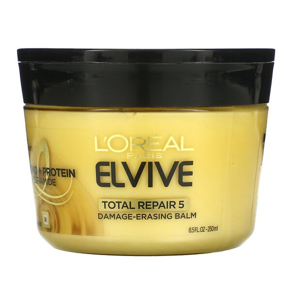 L'Oreal, Elvive, Total Repair 5, Damage-Erasing Balm, 8.5 fl oz (250 ml)