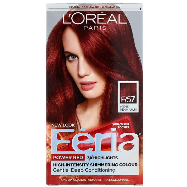 Feria, Power Red, R57 Intense Medium Auburn, 1  Application