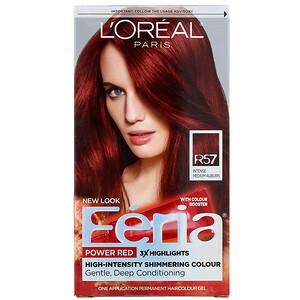 L'Oreal, Feria, Power Red, R57 Intense Medium Auburn, 1  Application отзывы