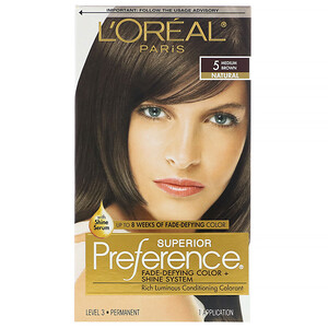 L'Oreal, Superior Preference, Fade-Defying Color + Shine System, Natural, 5 Medium Brown, 1 Application отзывы