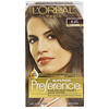 L'Oreal, Superior Preference, Fade-Defying Color + Shine System, Natural, Light Brown 6, 1 Application