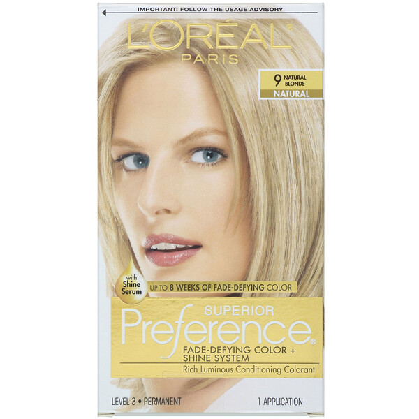 Superior Preference, Fade-Defying Color + Shine System, 9 Natural Blonde, 1 Application