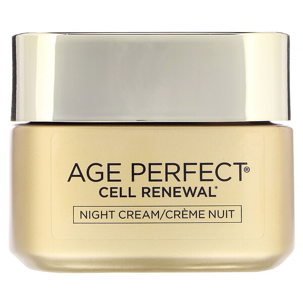 L'Oreal, Age Perfect Cell Renewal, Skin Renewing Night Cream Moisturizer, 1.7 oz (48 g)