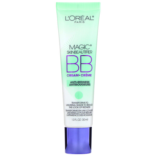 L'Oreal, Magic Skin Beautifier, BB Cream, 820 Anti-Redness, 1 fl oz (30 ml)