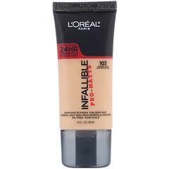 L'Oreal, Infallible Pro-Matte Foundation, 103 Natural Buff, 1 fl oz (30 ml)