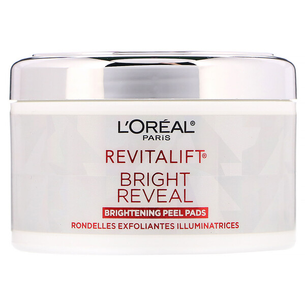 L'Oreal, 30 רפידות, Revitalift Bright Reveal, Brightening Peel Pads