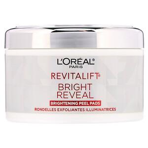 L'Oreal, Revitalift Bright Reveal, Brightening Peel Pads, 30 Pre-Soaked Pads отзывы