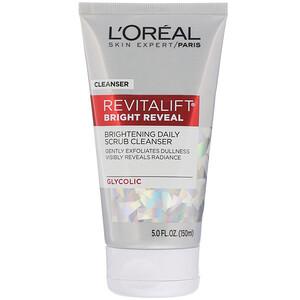 L'Oreal, Revitalift Bright Reveal, Brightening Daily Scrub Cleanser, 5 fl oz (150 ml) отзывы покупателей