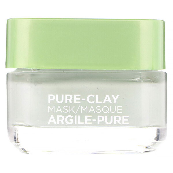 L'Oreal, Pure-Clay Mask, Purify & Mattify, 3 Pure Clays + Eucalyptus, 1.7 oz (48 g) (Discontinued Item)