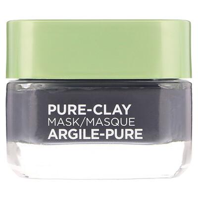 Купить L'Oreal Маска Pure-Clay, детоксикация и улучшение цвета лица, 3натуральные глины+древесный уголь, 48г