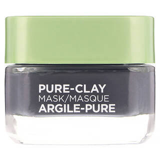 L'Oreal, Pure-Clay Beauty Mask, Detox & Brighten, 3 Pure Clays + Charcoal, 1.7 oz (48 g)