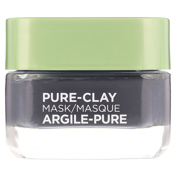 Pure-Clay Mask, Detox & Brighten, 3 Pure Clays + Charcoal, 1.7 oz (48 g)