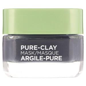 L'Oreal, Pure-Clay Mask, Detox & Brighten, 3 Pure Clays + Charcoal, 1.7 oz (48 g) отзывы