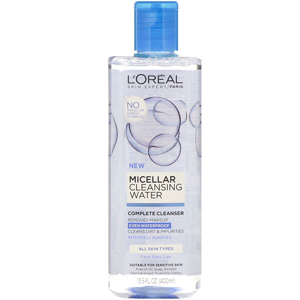 Micellar Cleansing Water, All Skin Types, 13.5 fl oz (400 ml)