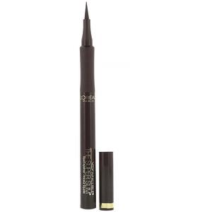 L'Oreal, Infallible Super Slim Liquid Eyeliner, 401 Brown, 0.034 fl oz (1 ml) отзывы