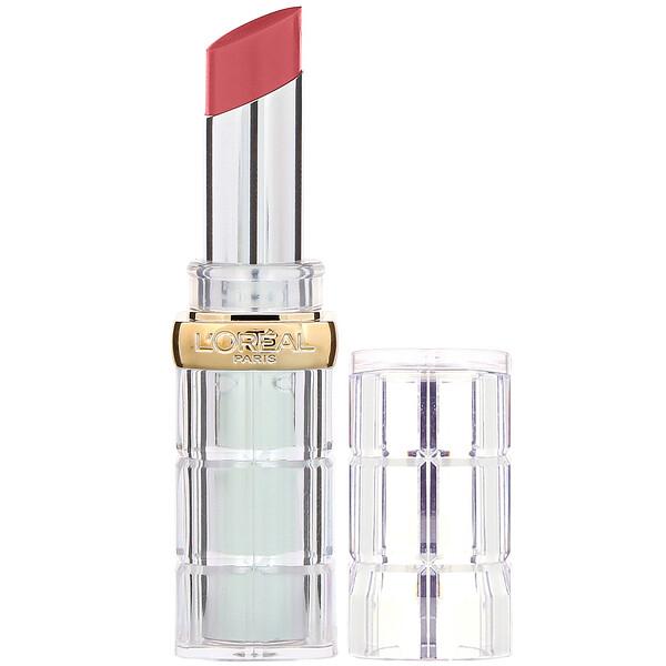 L'Oreal, Color Rich Shine Lipstick, 908 Sparkling Rose, 0.1 oz (3 g) (Discontinued Item)