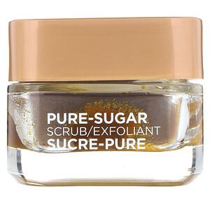 L'Oreal, Pure-Sugar Scrub, Smooth & Glow, 3 Pure Sugars + Grapeseed, 1.7 oz (48 g) отзывы