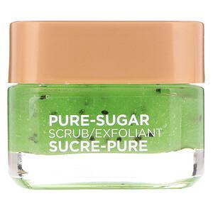 L'Oreal, Pure-Sugar Scrub, Purify & Unclog, 3 Pure Sugars + Kiwi, 1.7 oz (48 g) отзывы
