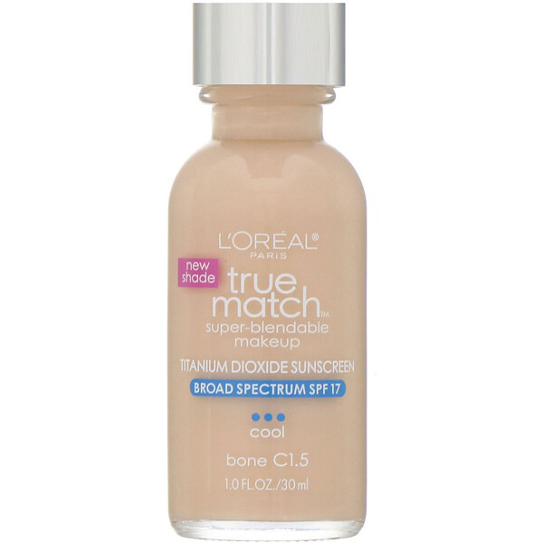L'Oreal, True Match Super-Blendable Makeup,  C1.5 Bone, 1 fl oz (30 ml)