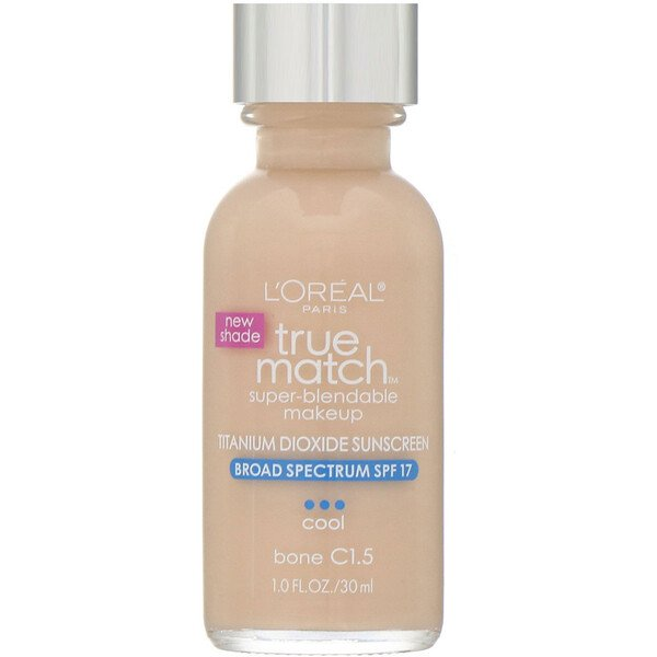 L'Oreal, True Match Super-Blendable Makeup,  C1.5 Bone, 1 fl oz (30 ml) (Discontinued Item)
