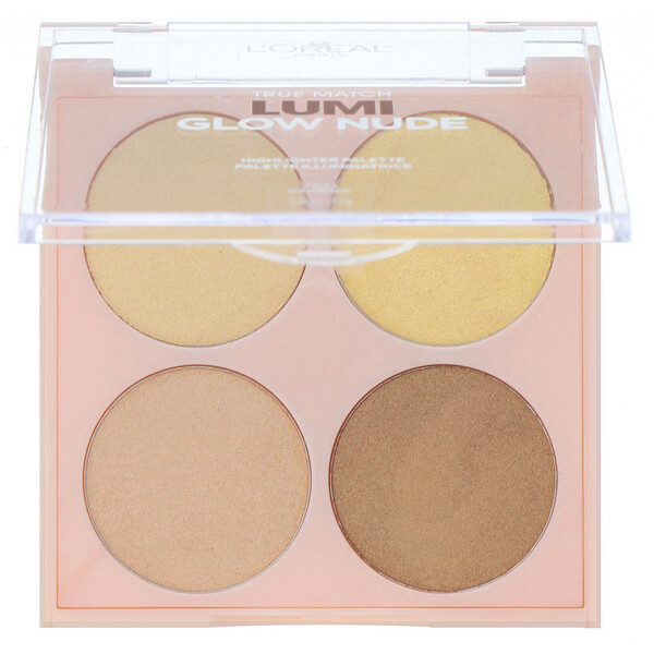 True Match Lumi Glow Nude Highlighter Palette, 750 Sunkissed, 0.26 oz (7.3 g)