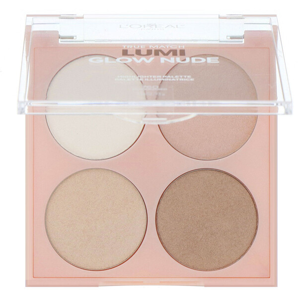 L'Oreal, True Match Lumi Glow Nude Highlighter Palette, 760 Moonkissed, 0.26 oz (7.3 g)