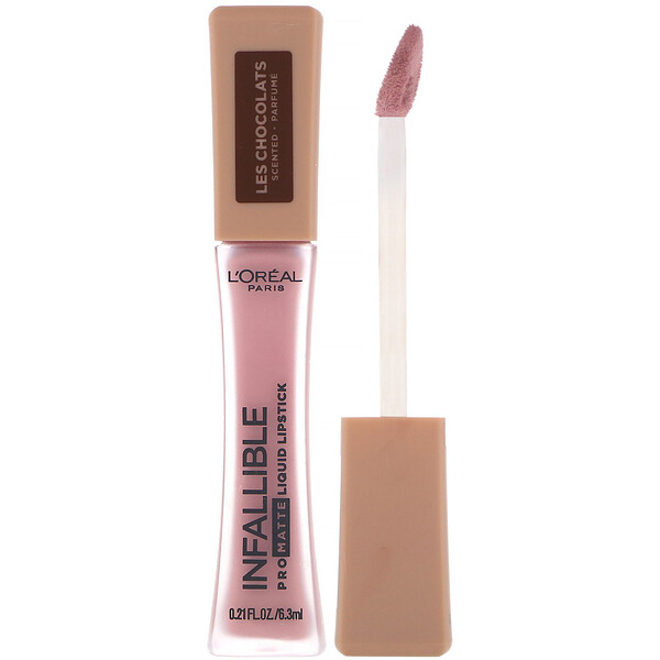 Infallible Pro-Matte Liquid Lipstick, Les Chocolats, 842 Candy Man, .21 fl oz (6.3 ml)