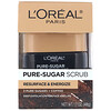 L'Oreal, مقشر السكر النقي، سطح وتنشيط ، 3 سكريات نقية + قهوة ، 1.7 أوقية (48 غرام)