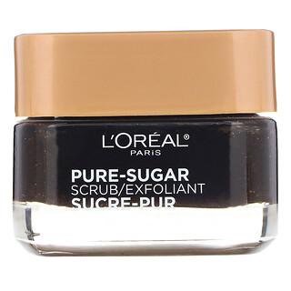 L'Oreal, Pure-Sugar Scrub, Resurface & Energize, 3 Pure Sugars + Coffee, 1.7 oz (48 g)