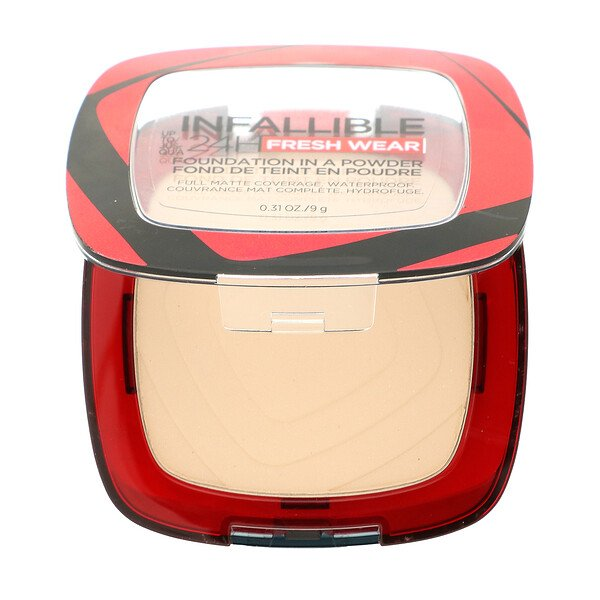 L'Oreal, Infallible 24H Fresh Wear, Foundation In A Powder, 10 Porcelain, 0.31 oz (9 g)