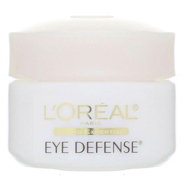 L'Oreal, קרם עיניים Eye Defense, משקל 14 גרם (0.5 אונקיות נוזל)