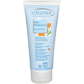 Logona Naturkosmetik, Baby Moisture Cream, Calendula, 3.4 fl oz (100 ml)