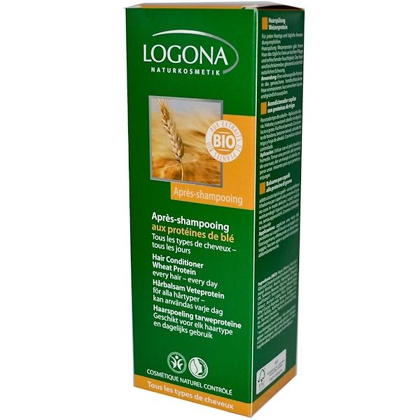 Logona Naturkosmetik, Hair Conditioner Wheat Protein, 6.8 fl oz (200 ml) (Discontinued Item)