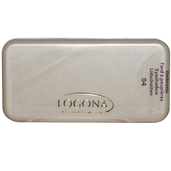 Logona Naturkosmetik, Eyeshadow Duo, Silver + Gold 04, 0.1 oz (3 g) (Discontinued Item)