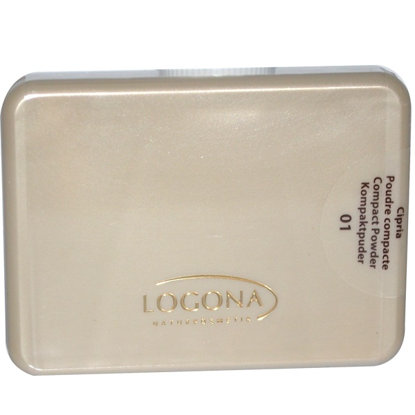Logona Naturkosmetik, Compact Powder, Light Beige 01, 0.35 fl oz (10 g) (Discontinued Item)