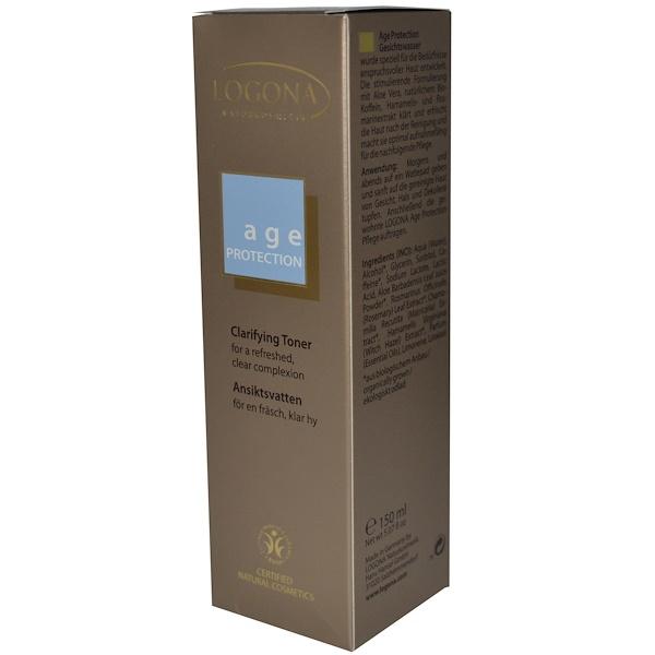 Logona Naturkosmetik, Age Protection, Clarifying Toner, 5.07 fl oz (150 ml) (Discontinued Item)