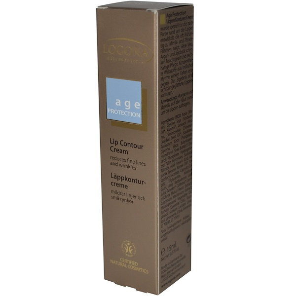 Logona Naturkosmetik, Age Protection, Lip Contour Cream, 0.5 fl oz (15 ml) (Discontinued Item)